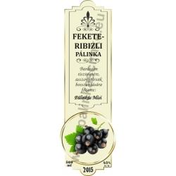 "Fekete ribizli pálinka címke - ""SLIM DECOR"""
