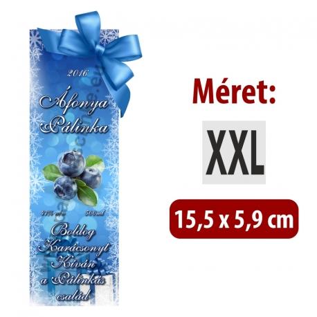 """Áfonya karácsonyi pálinka címke - """"Xmas blue"""""""