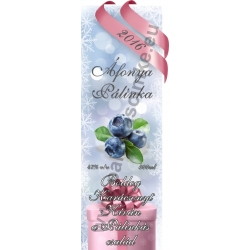 """Áfonya karácsonyi pálinka címke - """"Xmas Cold"""""""