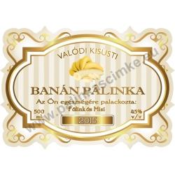 """Banán pálinka címke - """"Golden Age"""""""