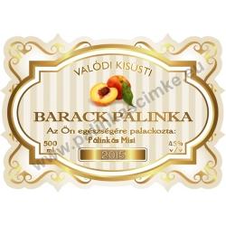 """Barack pálinka címke - """"Golden Age"""""""