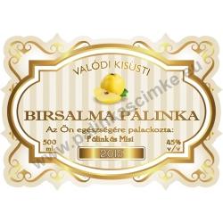 """Birsalma pálinka címke - """"Golden Age"""""""
