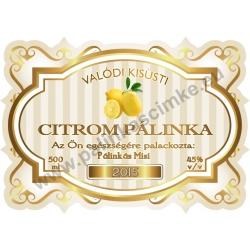 """Citrom pálinka címke - """"Golden Age"""""""