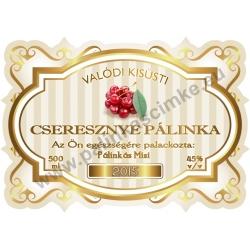 """Cseresznye pálinka címke - """"Golden Age"""""""