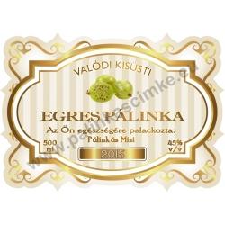 "Egres pálinka címke - ""Golden Age"""