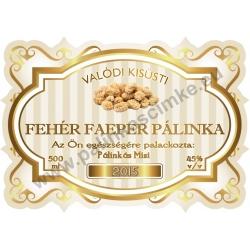 """Faeper fehér pálinka címke - """"Golden Age"""""""