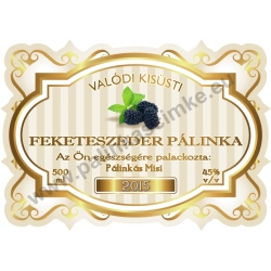 "Feketeszeder pálinka címke - ""Golden Age"""