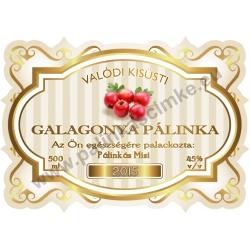 """Galagonya pálinka címke - """"Golden Age"""""""