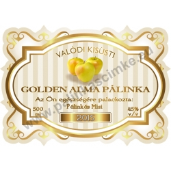 "Golden alma pálinka címke - ""Golden Age"""