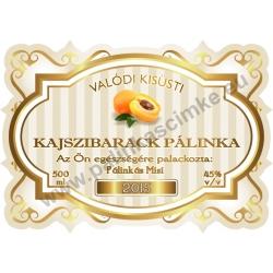 """Kajszibarack pálinka címke - """"Golden Age"""""""