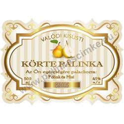 """Körte pálinka címke - """"Golden Age"""""""