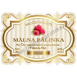 """Málna pálinka címke - """"Golden Age"""""""