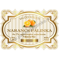 """Narancs pálinka címke - """"Golden Age"""""""