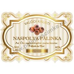 """Naspolya pálinka címke - """"Golden Age"""""""