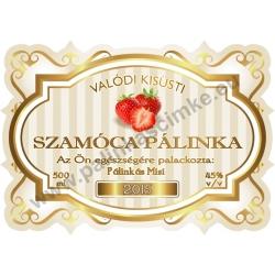 """Szamóca pálinka címke - """"Golden Age"""""""