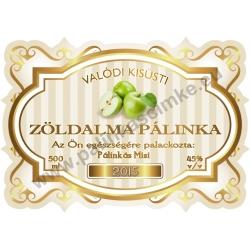 """Zöld alma pálinka címke - """"Golden Age"""""""