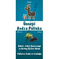 "Bodza karácsonyi pálinka címke - ""Christmas deer"""