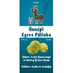 "Egres karácsonyi pálinka címke - ""Christmas deer"""