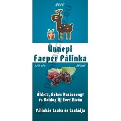 """Faeper karácsonyi pálinka címke - """"Christmas deer"""""""