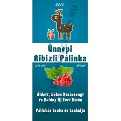"Ribizli karácsonyi pálinka címke - ""Christmas deer"""