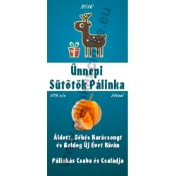 """Sütőtök karácsonyi pálinka címke - """"Christmas deer"""""""