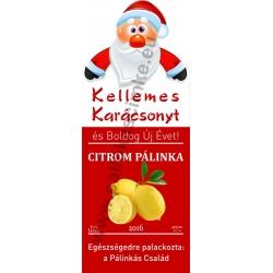 """Citrom karácsonyi pálinka címke - """"Santa"""""""