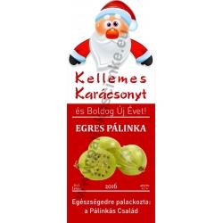 """Egres karácsonyi pálinka címke - """"Santa"""""""