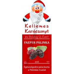 """Faeper karácsonyi pálinka címke - """"Santa"""""""