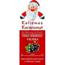 """Fekete ribizli karácsonyi pálinka címke - """"Santa"""""""