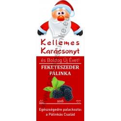 """Feketeszeder karácsonyi pálinka címke - """"Santa"""""""