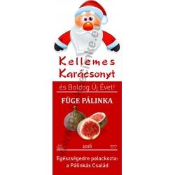 """Füge karácsonyi pálinka címke - """"Santa"""""""