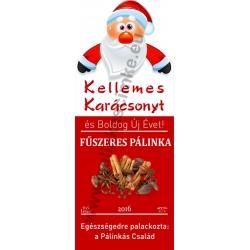 """Fűszeres karácsonyi pálinka címke - """"Santa"""""""