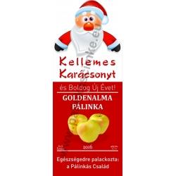 """Golden alma karácsonyi pálinka címke - """"Santa"""""""