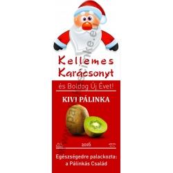 """Kivi karácsonyi pálinka címke - """"Santa"""""""