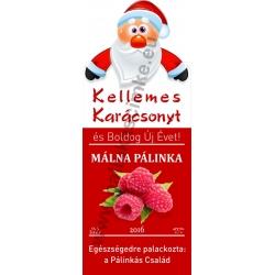 "Málna karácsonyi pálinka címke - ""Santa"""