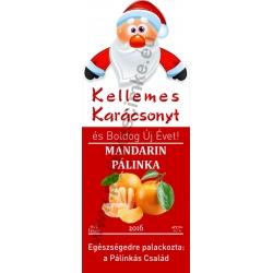 """Mandarin karácsonyi pálinka címke - """"Santa"""""""