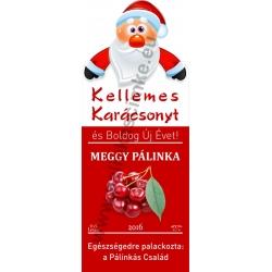 """Meggy karácsonyi pálinka címke - """"Santa"""""""