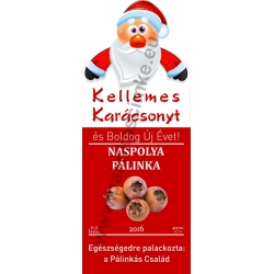 "Naspolya karácsonyi pálinka címke - ""Santa"""