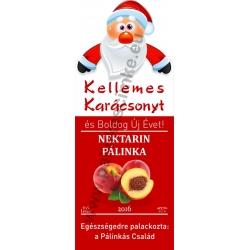 "Nektarin karácsonyi pálinka címke - ""Santa"""