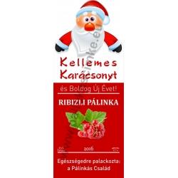 """Ribizli karácsonyi pálinka címke - """"Santa"""""""