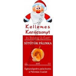 "Sütőtök karácsonyi pálinka címke - ""Santa"""
