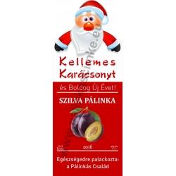 """Szilva karácsonyi pálinka címke - """"Santa"""""""