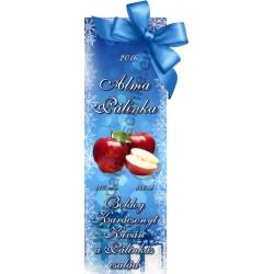 """Alma karácsonyi pálinka címke - """"Xmas blue"""""""