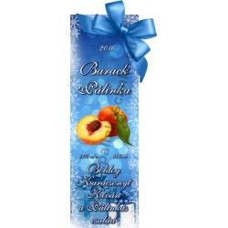 """Barack karácsonyi pálinka címke - """"Xmas blue"""""""