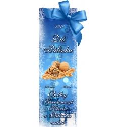 """Dió karácsonyi pálinka címke - """"Xmas blue"""""""
