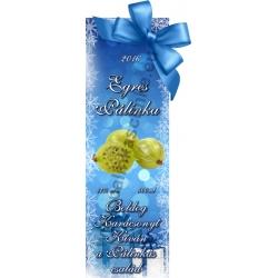 """Egres karácsonyi pálinka címke - """"Xmas blue"""""""