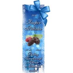 """Faeper karácsonyi pálinka címke - """"Xmas blue"""""""