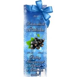"""Fekete ribizli karácsonyi pálinka címke - """"Xmas blue"""""""