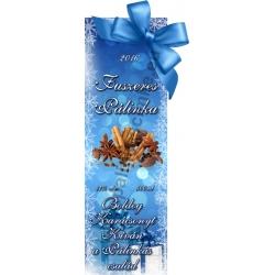 """Fűszeres karácsonyi pálinka címke - """"Xmas blue"""""""