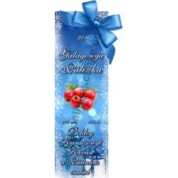 """Galagonya karácsonyi pálinka címke - """"Xmas blue"""""""